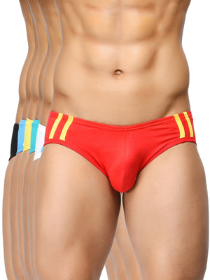Striped and Solid Fashion Briefs (Pack of 6)