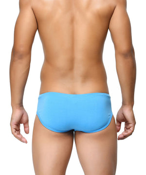 BASIICS Blue Men Contoured Pouch Regular Cotton Spandex Briefs