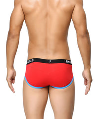 BASIICS Red Men Contoured Pouch Regular Cotton Spandex Briefs