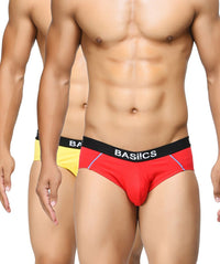 BASIICS Men Power Cotton Spandex Briefs Pack of 2