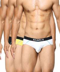 BASIICS Men Power Cotton Spandex Briefs Pack of 3