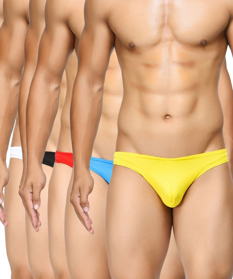 BASIICS Men Semi Seamless Feather Weight Cotton Spandex Briefs Multipack