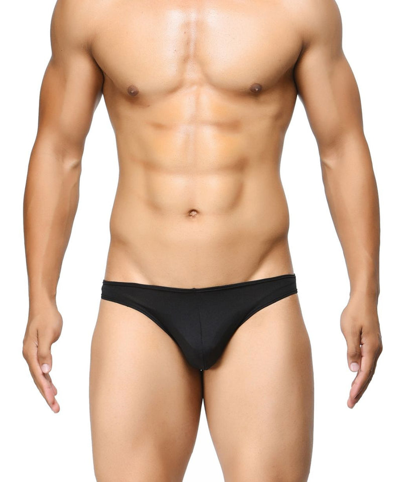 BASIICS Black Men Semi Seamless Feather Weight Polyester Spandex Briefs