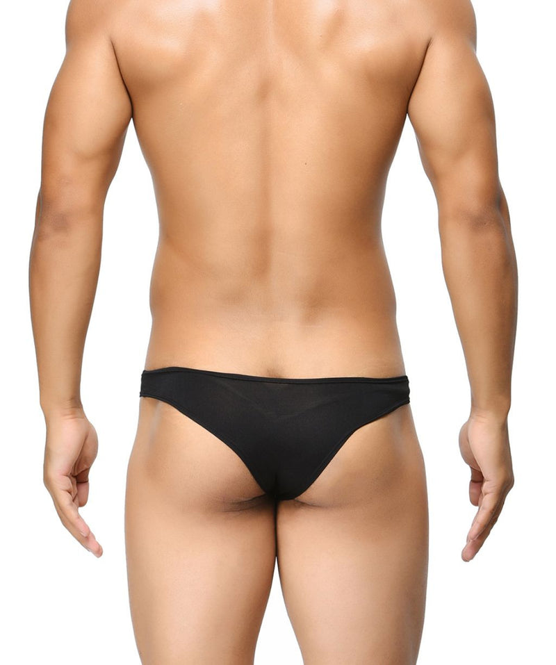 BASIICS Black Men Feather Light Polyester Spandex Briefs