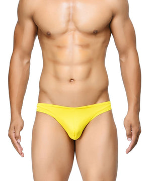 BASIICS Yellow Men Semi Seamless Feather Weight Polyester Spandex Briefs
