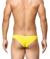 BASIICS Yellow Men Feather Light Polyester Spandex Briefs