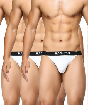 BASIICS Men Prime Cotton Spandex Thongs Pack of 3
