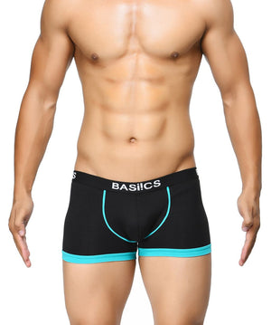 BASIICS Black Men Bold Micro Sport Cotton Spandex Trunks