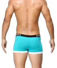 BASIICS Teal Men Contoured Pouch Regular Cotton Spandex Trunks
