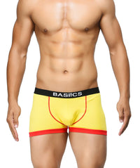 BASIICS Yellow Men Bold Micro Sport Cotton Spandex Trunks