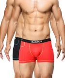BASIICS Men MicroFlex Cotton Spandex Trunks Pack of 2