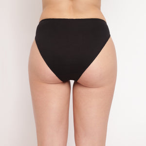 Glamo Rise High Leg Brief (Combo Pack of 5)