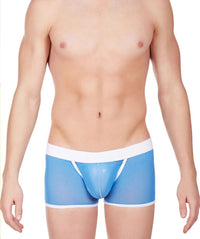 La Intimo Blue Men Power Net Nylon Spandex Trunk