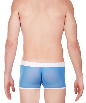 La Intimo Blue Men Undergarment Power Net Nylon Spandex Trunk
