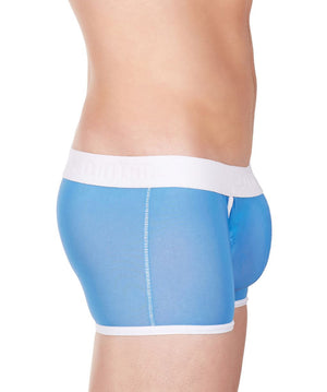 La Intimo Blue Men Innerwear Power Net Nylon Spandex Trunk