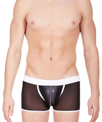 La Intimo Black Men Power Net Nylon Spandex Trunk
