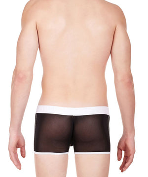 La Intimo Black Men Undergarment Power Net Nylon Spandex Trunk