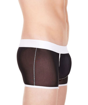 La Intimo Black Men Innerwear Power Net Nylon Spandex Trunk