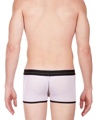 La Intimo White Men Undergarment Power Net Nylon Spandex Trunk