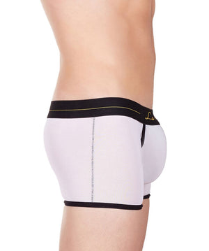 La Intimo White Men Innerwear Power Net Nylon Spandex Trunk