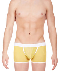 La Intimo Yellow Men Power Net Nylon Spandex Trunk