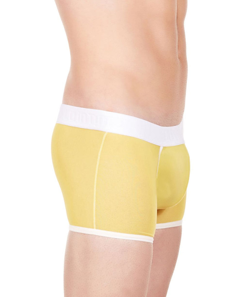 La Intimo Yellow Men Innerwear Power Net Nylon Spandex Trunk