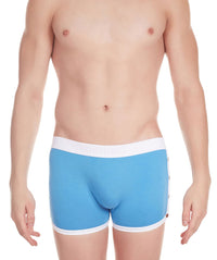 La Intimo Blue Men Greek Cotton Spandex Trunk