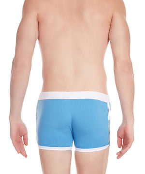 La Intimo Blue Men Greek Side Open Cotton Spandex Trunk