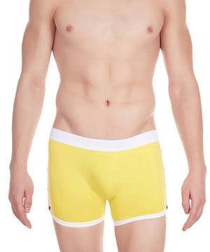 La Intimo Yellow Men Greek Cotton Spandex Trunk