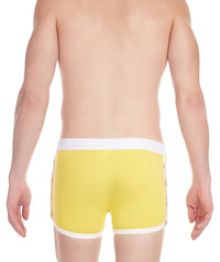 La Intimo Yellow Men Greek Side Open Cotton Spandex Trunk