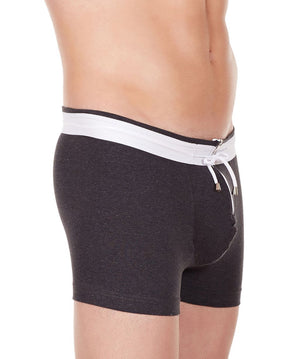 La Intimo Charcoal Men YKK Zip Cotton Spandex Trunk
