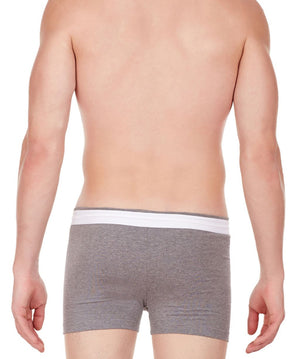 La Intimo Grey Men Zip Cotton Milange Spandex Trunk
