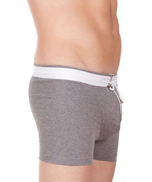 La Intimo Grey Men YKK Zip Cotton Spandex Trunk