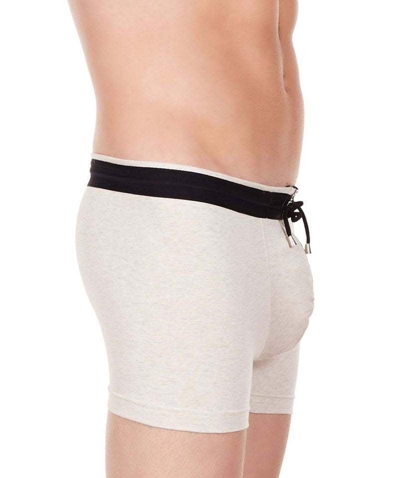 La Intimo Off White Men YKK Zip Cotton Spandex Trunk