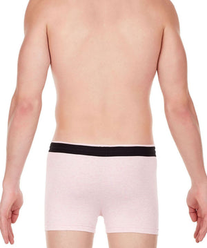 La Intimo Pink Men Zip Cotton Milange Spandex Trunk