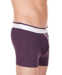 La Intimo Wine Men YKK Zip Cotton Spandex Trunk