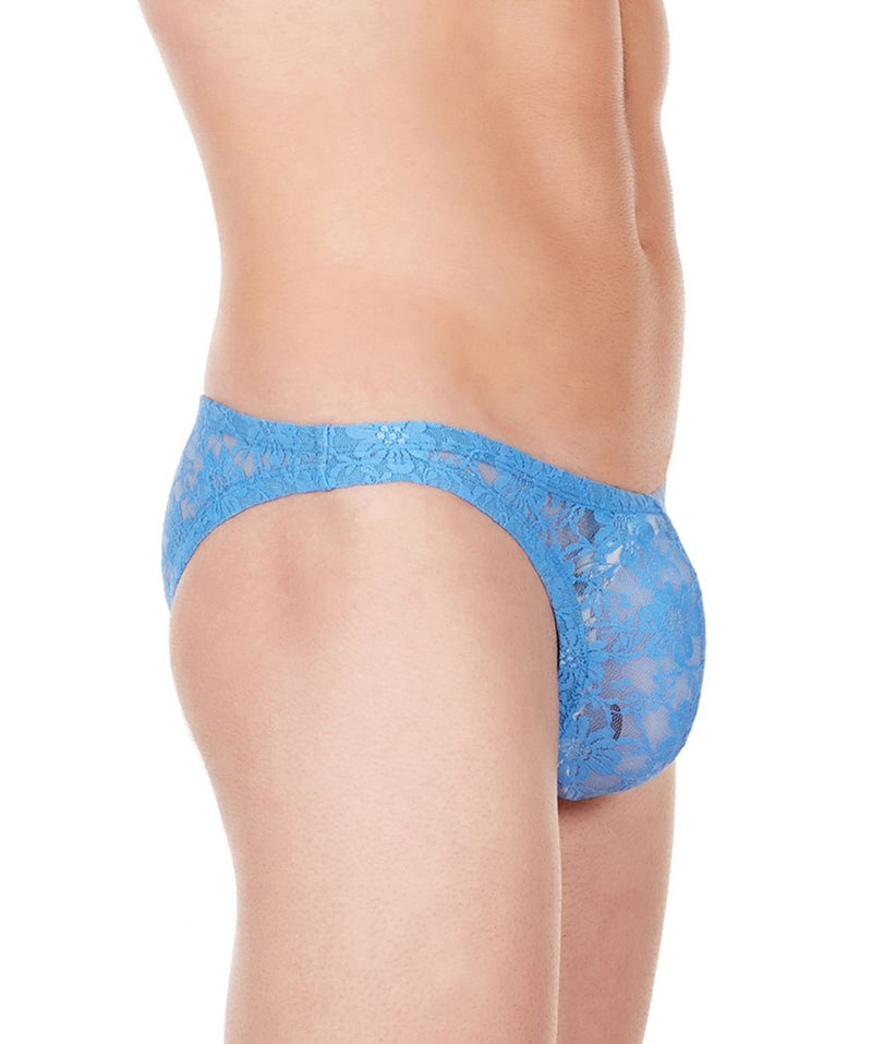 La Intimo Blue Men Flower pattern Nylon Spandex Lace