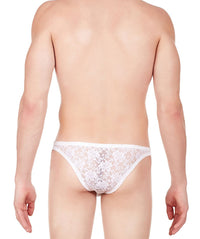 La Intimo White Men Intimate Brief Nylon Spandex Lace