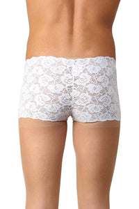 La Intimo White Men Feather light Nylon Spandex Lace