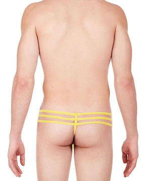 La Intimo Yellow Men Intimate GString Nylon Spandex Lace