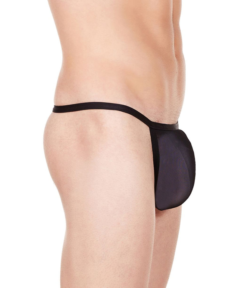 La Intimo Black Men Mesh Backless Pouch Nylon Spandex Net