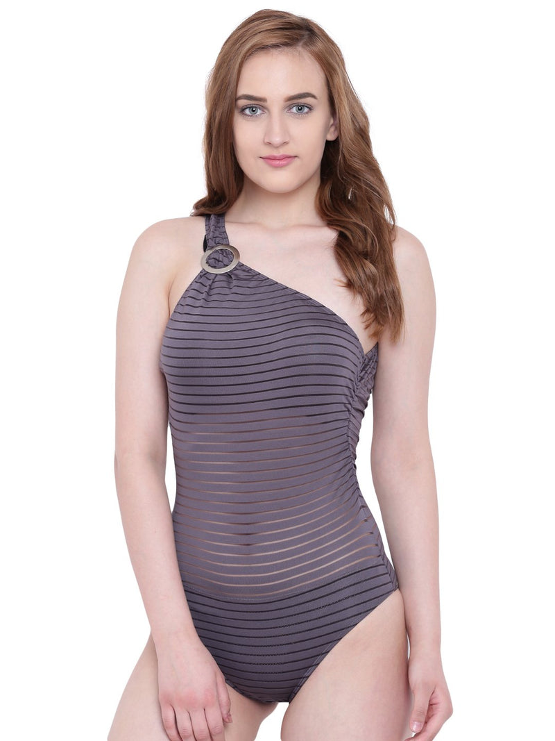 La Intimo Petrol Grey Female SummerSass Monokini Resort/Beach Wear Polyester Spandex Swimwear