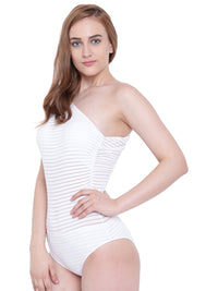 La Intimo White Female SummerSass Monokini Resort/Beach Wear Polyester Spandex Swimwear