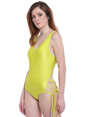 La Intimo Lime Punch Female AquaCross Monokini Resort/Beach Wear Polyester Spandex Swimwear