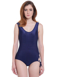 La Intimo Navy Blue Female AquaCross Monokini Resort/Beach Wear Polyester Spandex Swimwear