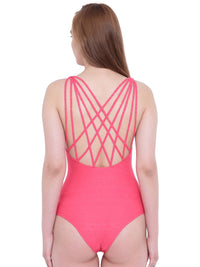 La Intimo Rouge Red Female Coast Monokini Resort/Beach Wear Polyester Spandex Swimwear