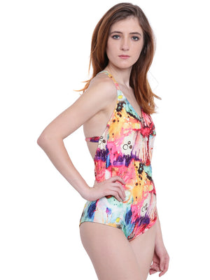 La Intimo BP-Modern Art Female Oceanfront Monokini Resort/Beach Wear Polyester Spandex Swimwear