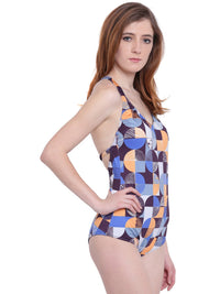 La Intimo BP-Geometric Female Oceanfront Monokini Resort/Beach Wear Polyester Spandex Swimwear