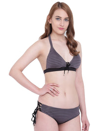 La Intimo Petrol Grey Female Seashow Bikini Resort/Beach Wear Polyester Spandex Swimwear