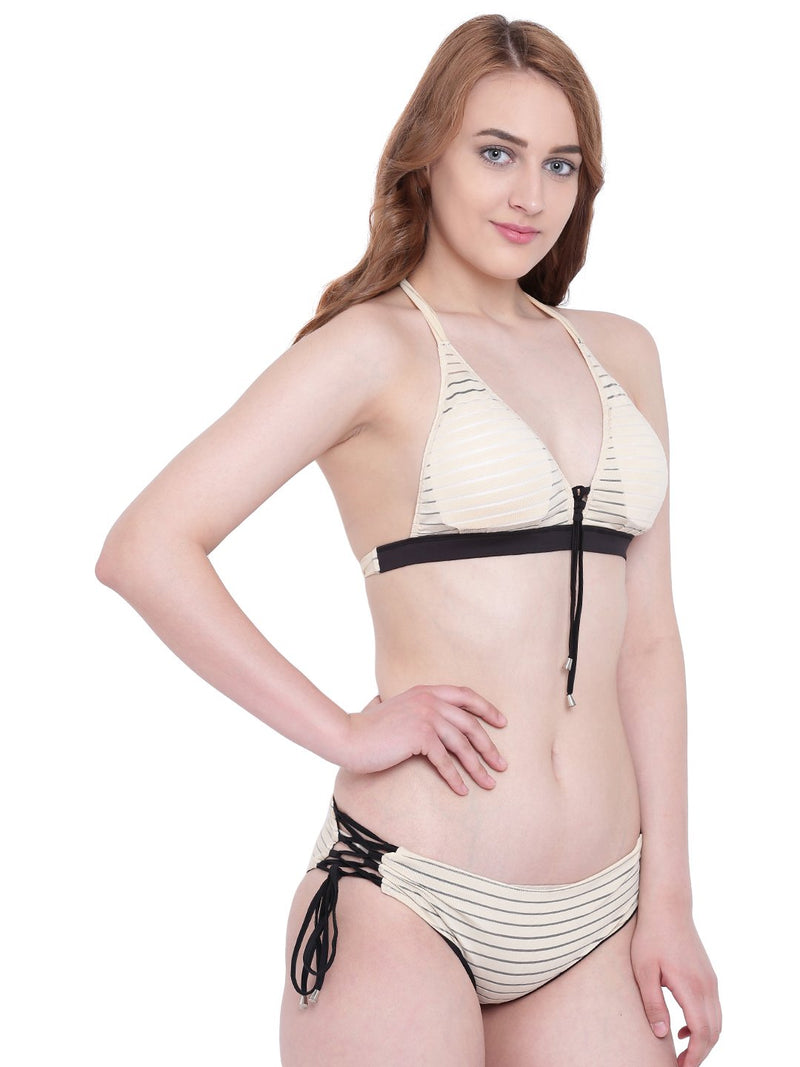 La Intimo Skin Female Seashow Bikini Resort/Beach Wear Polyester Spandex Swimwear